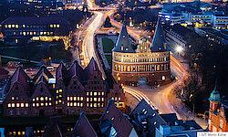 Lübeck Holstentor am Abend
