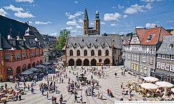Goslar Marktplatz mit Rathaus